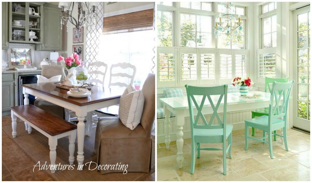 Kitchen Table Inspiration Collage