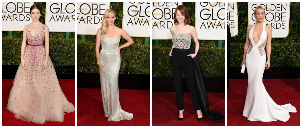 The Golden Globes 2015 Hits Collage