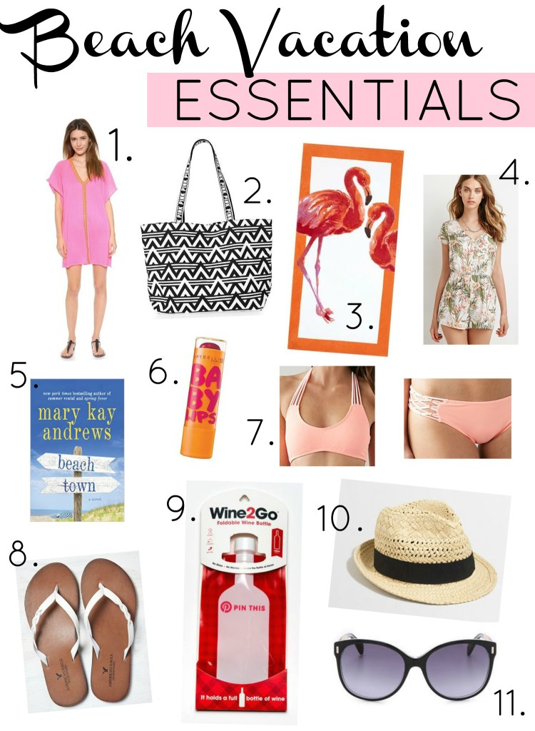 beach vacation essentials