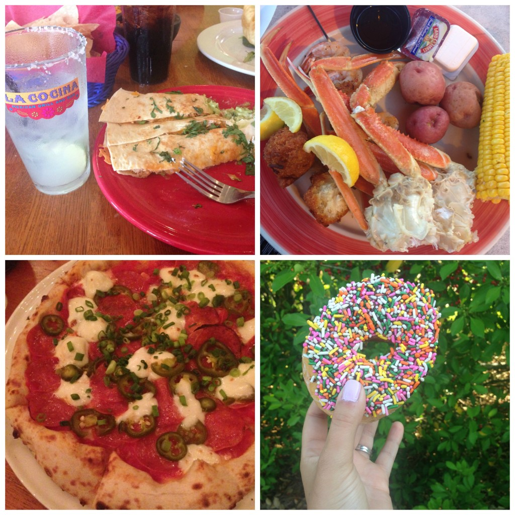 Rosemary beach food Collage