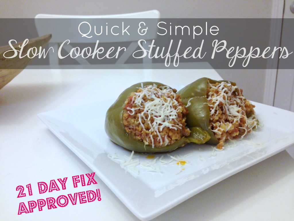 slow cooker stuffed peppers - main