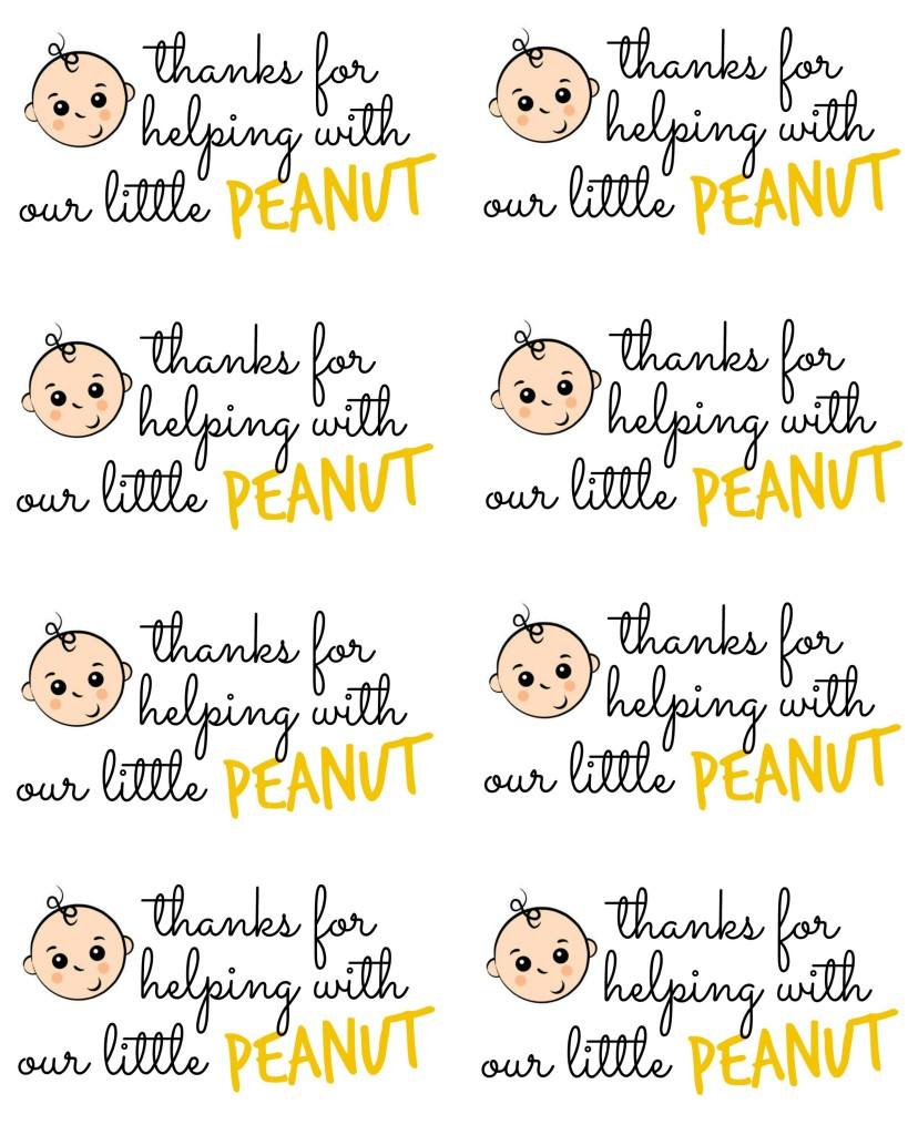 thanks for helping with our little peanut tag