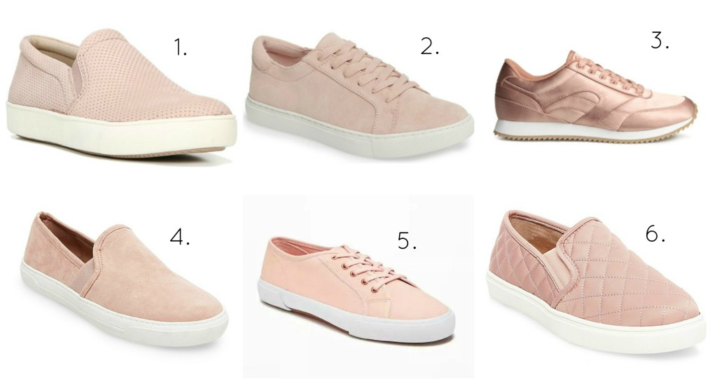 pink sneaker collage