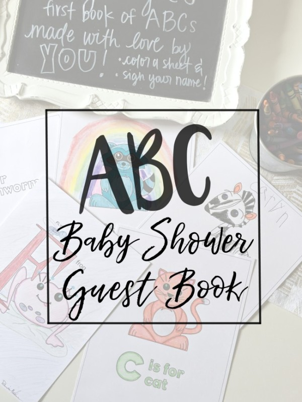 baby shower ABC guest book main
