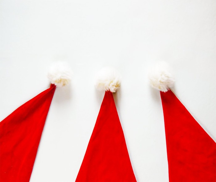 three-santa-hats